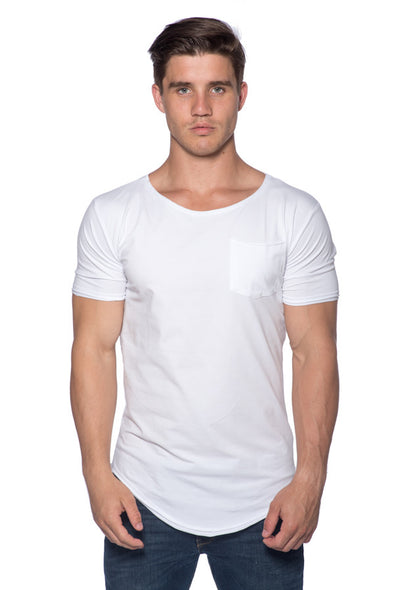 The Scallop Tee - White