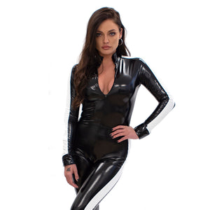 Diva - Full Body Cat Suit (Black/ white)