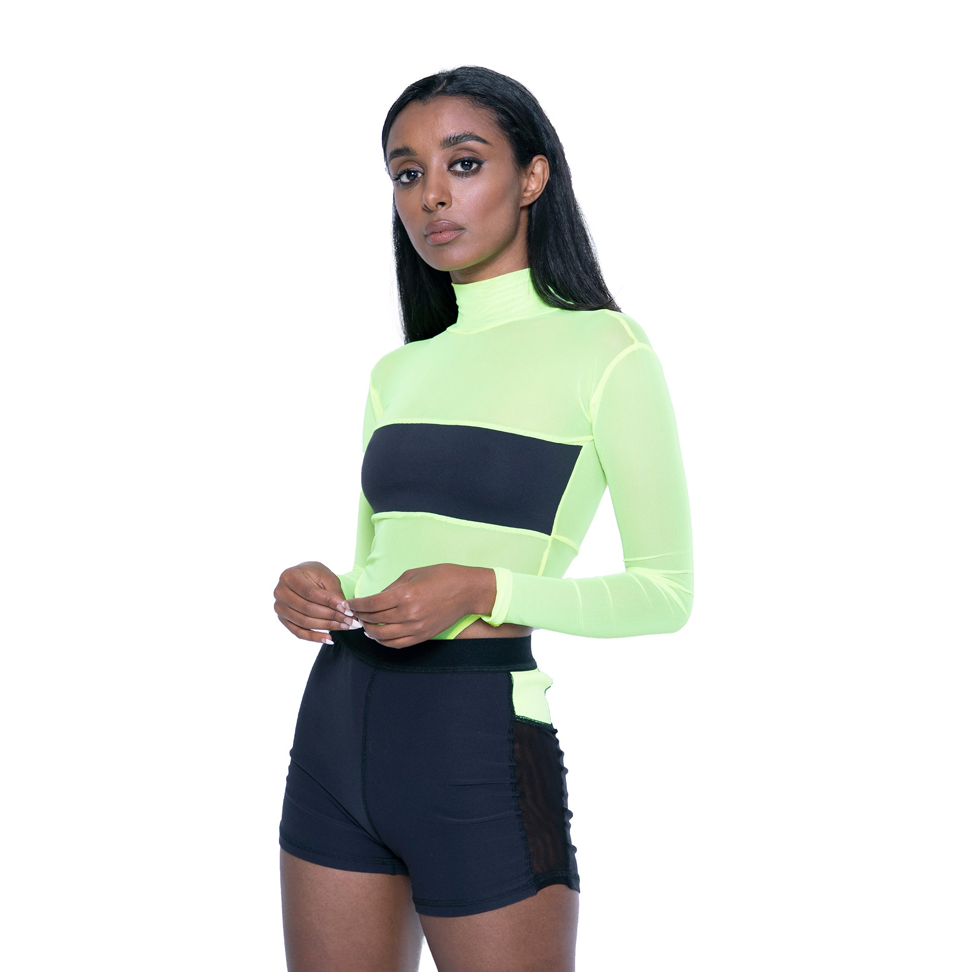 Go Getter - High Waist Sheer Body Suit (Active Wear)