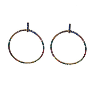 Porsha Paved Circle Earrings