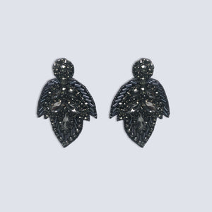 Wilna Jeweled Leaf Earrings