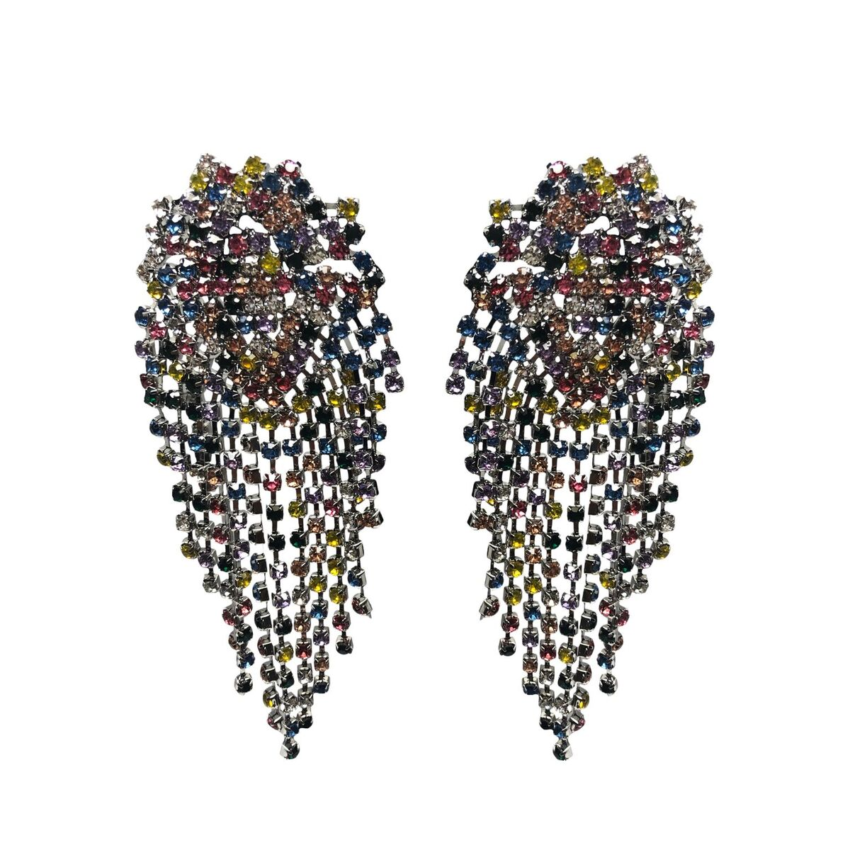 Pamela Pave Marquise Tassel Earrings