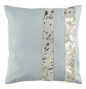 KINSTON METALLIC COWHIDE THROW PILLOW