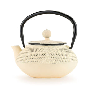 Miko Ivory Cast Iron Teapot by Pinky Up