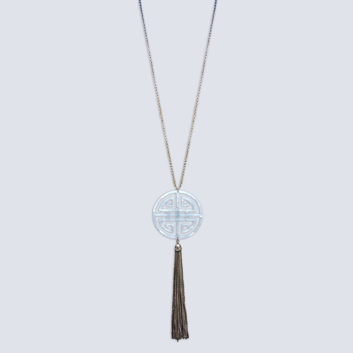 Marla Medallion & Tassel Necklace