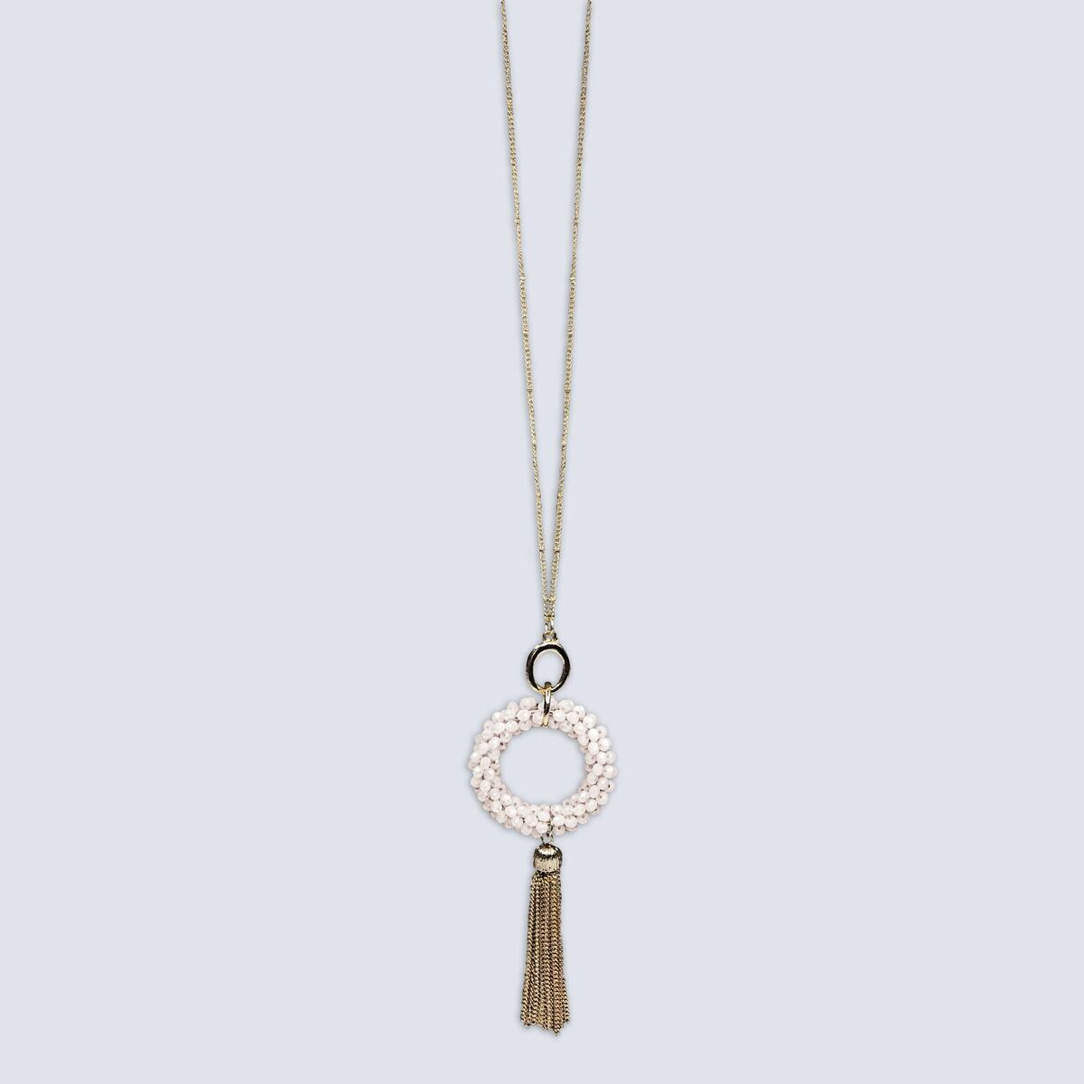 Harley Halo & Tassel Necklace