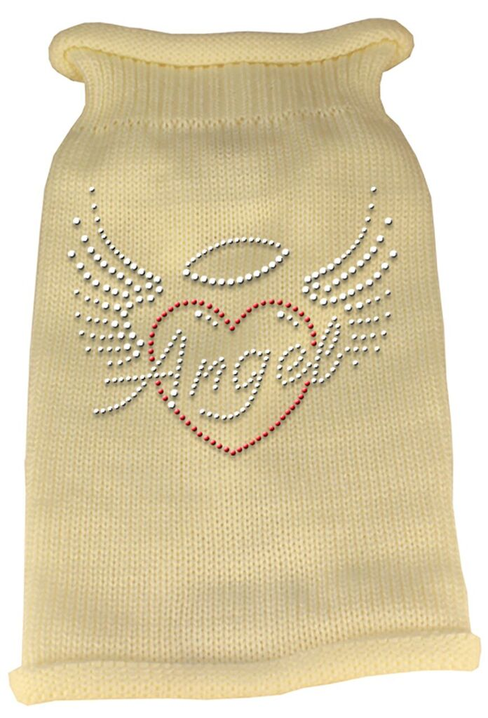 Rhinestone Knit Dog Sweater - Angel Heart