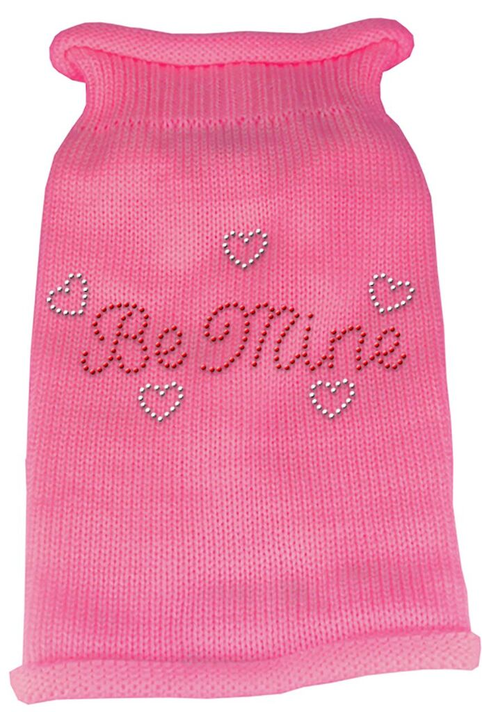 Rhinestone Knit Dog Sweater - Be Mine