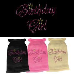 Rhinestone Knit Dog Sweater - Birthday Girl