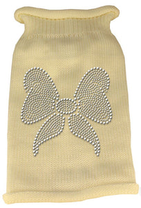 Rhinestone Knit Dog Sweater - Bow