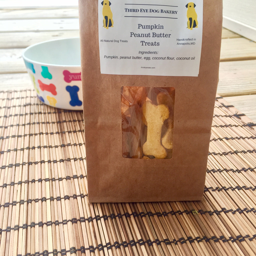 Pumpkin Peanut Butter Dog Treats - Grain-Free - Third Eye Dog Bakery