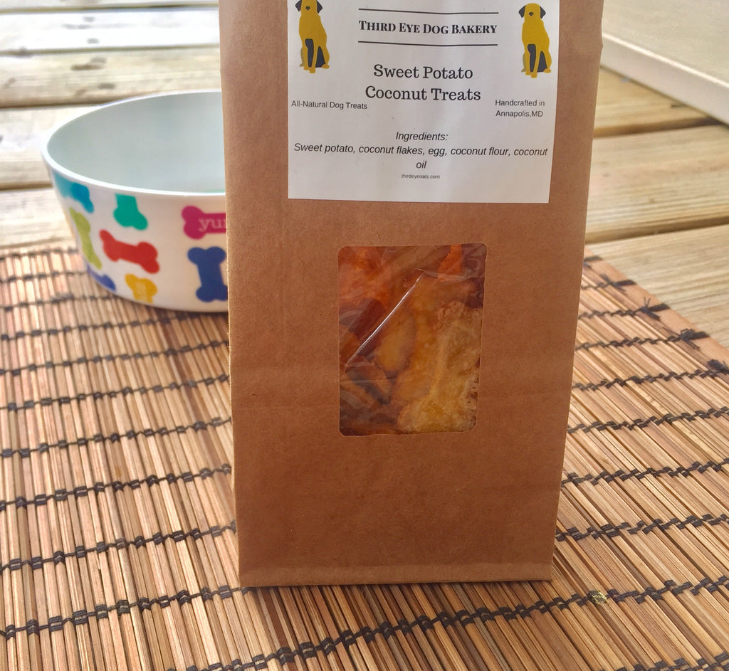 Sweet Potato Coconut Dog Treats - Grain-Free - Third Eye Dog Bakery