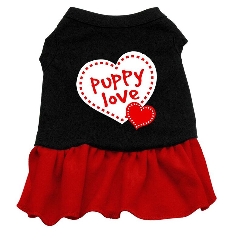 Plain Cotton Dog Dress - Puppy Love - Third Eye Dog Bakery