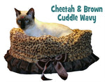 Cheetah Reversible Snuggle Bugs Pet Bed, Bag, and Car Seat in One