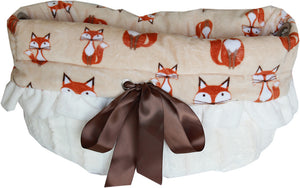 Foxy Reversible Snuggle Bugs Pet Bed, Bag, and Car Seat All-in-One - Third Eye Dog Bakery