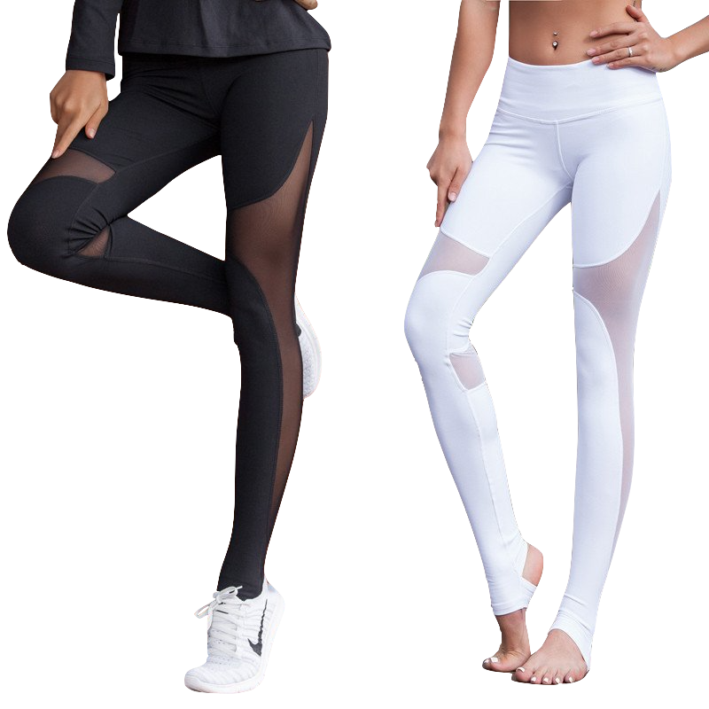 Attractive Mesh Inset Stirrup Leggings – GlobalYogaAcademy OZ19