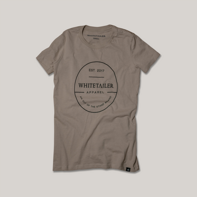 Badge Logo Tee | Tan