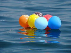 balloons in the water