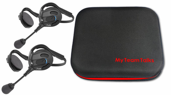 """2TALK"" Bluetooth Headset pair"