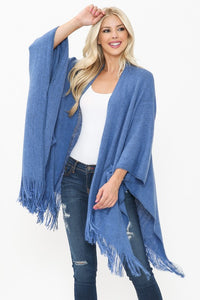 "The ""Harlow"" Cardigan Kimono with Pockets in Cement"