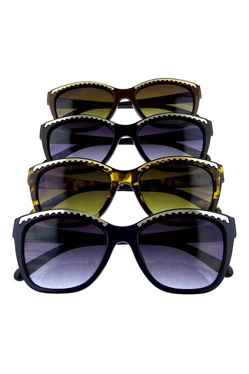 High Pointed Frame Top Metal Cat Eye Sunnies in Choice of Colors