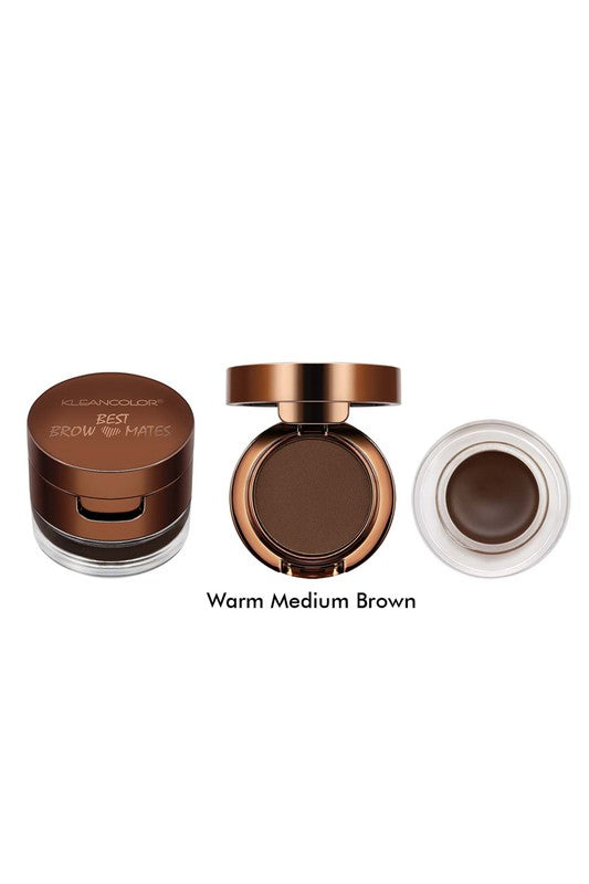 Kleancolor Best Browmates Brow Powder & Gel Kit - Warm Medium Brown