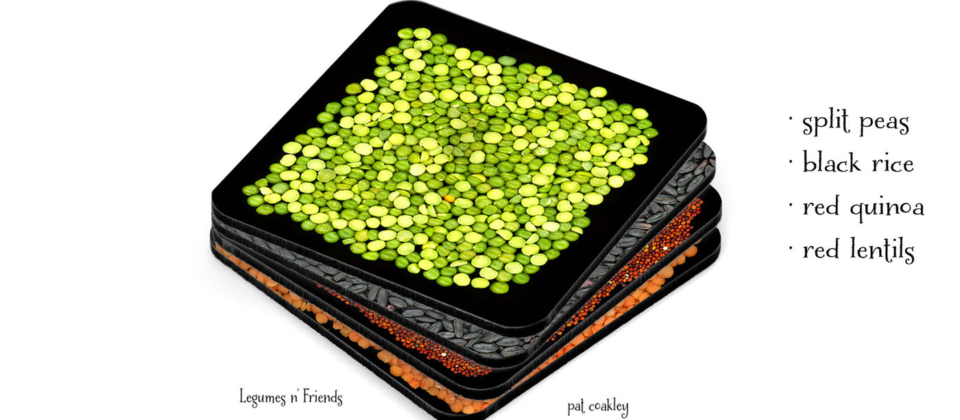 Legumes Coaster Set of 4