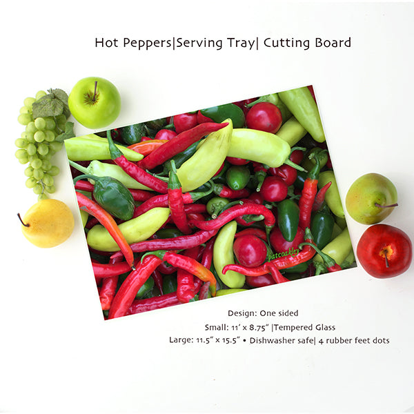 Large Farmer's Market Inspired Serving Tray | Cutting Board| Home and Kitchen| Vegetables, Fruits, Flowers|