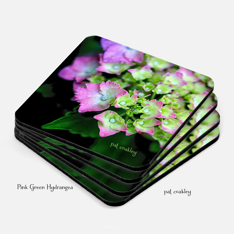 Hydrangea Flower Coaster Set | Drinkware| Barware|Hostess| Housewarming| Gardener Gifts|ThePhotoGardener
