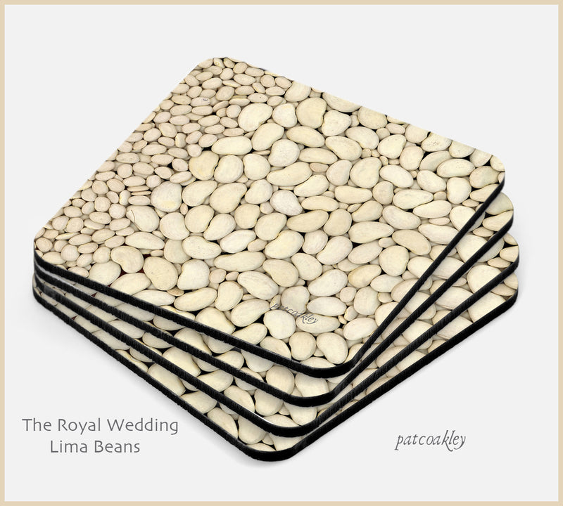 The Royal Wedding Lima Bean Coaster Set| Barware| Kitchen and Dining| The Photo Gardener
