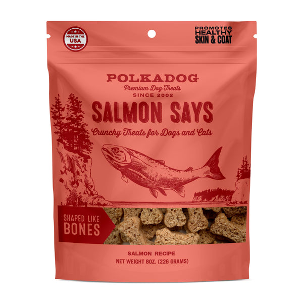 Salmon Says - Bone Shaped