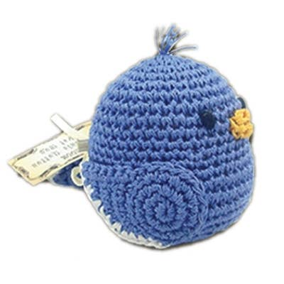 Organic Crochet Blue Bird Toy