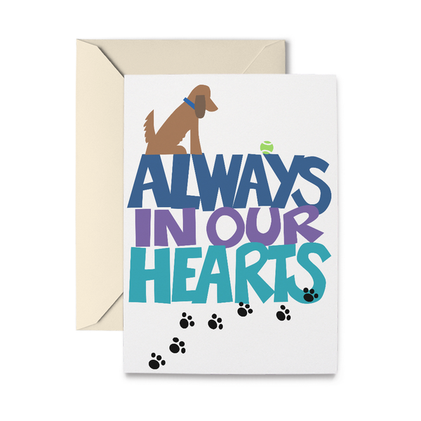 Always in our Hearts Bereavement Card