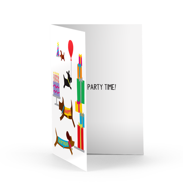 Birthday Festivities Greeting Card