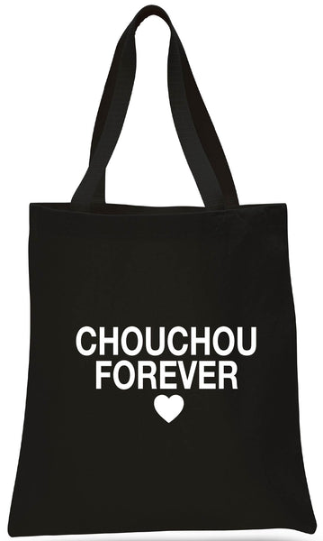 CHOUCHOU FOREVER CANVAS TOTE + SIGNATURE BUTTONS