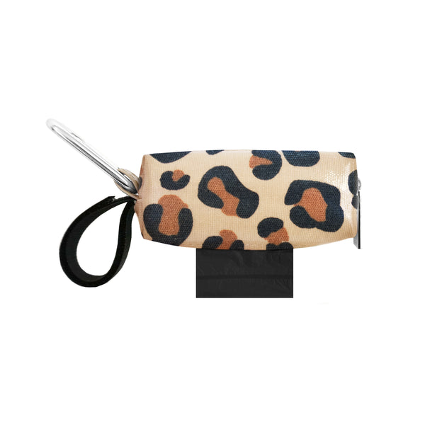 POOP BAG CARRIER  - LEOPARD PATENT