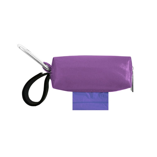 POOP BAG CARRIER  - PURPLE PATENT