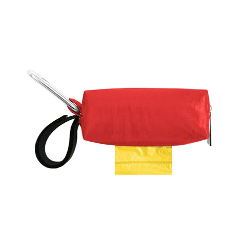 POOP BAG CARRIER  - RED PATENT
