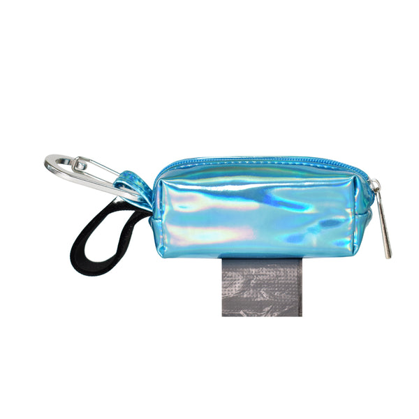 POOP BAG CARRIER - HOLOGRAPHIC BLUE