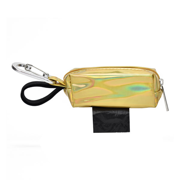 POOP BAG CARRIER - HOLOGRAPHIC GOLD