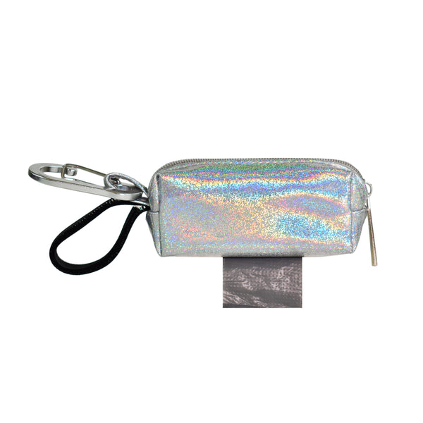 POOP BAG CARRIER  - SILVER SPARKLE