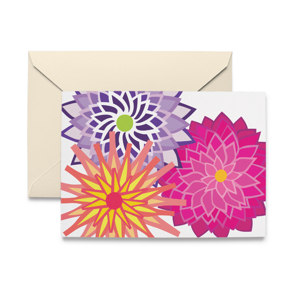 Dahlias Note Card