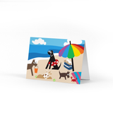 Doggie Beach Note Card