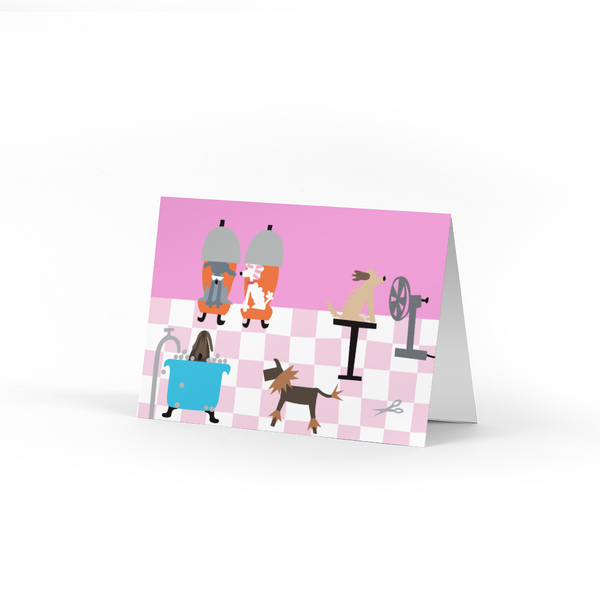 Doggie Salon Note Card