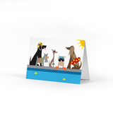 Doggie Swim Party Note Card