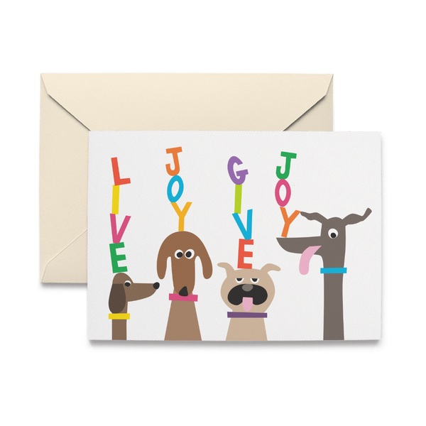 Doggie Live Joy Give Joy Note Card