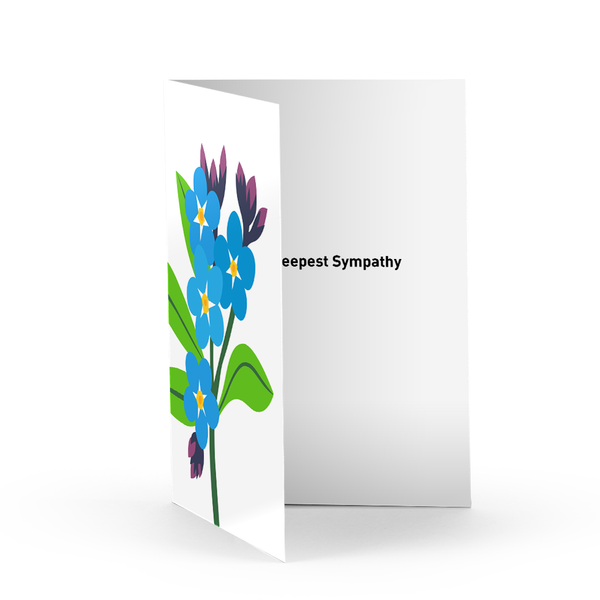 Forget Me Nots Bereavement Card
