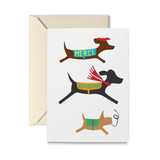 French Doggies Thank You Greeting Card