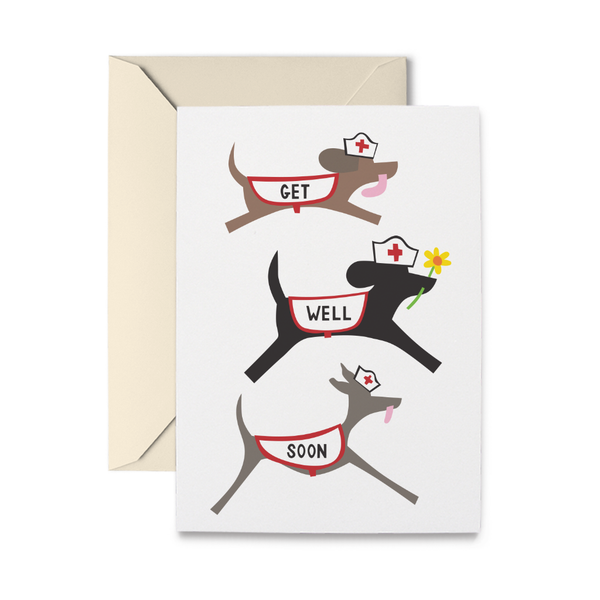 Get Well Doggies Greeting Card