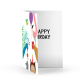 Happy Birdday Greeting Card